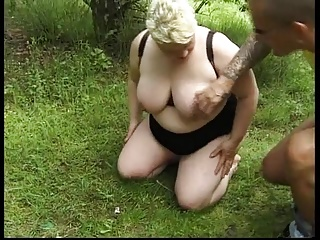 Bbw fucked on the grass