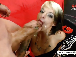 Extreme Bukkake –  Dirty MILF Used