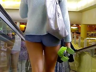 Vpl denim shorts cortito