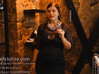 Minipenis eines Sklaven in Chastity Belt gesteckt Humilation