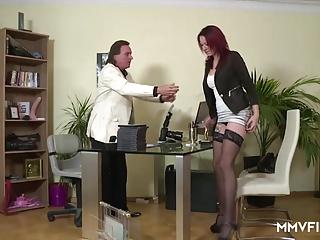 Casting a German Redhead Teen