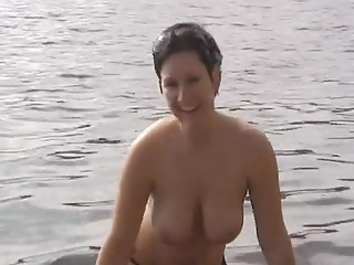 Big tits German hottie gets railed at the beach