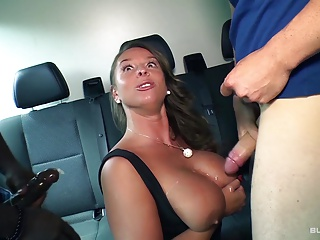 BumsBus – German MILF in a interracial threesome on the bus
