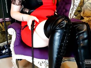 Boots Stiefel Fetisch Domina in Overknee Leder Heels