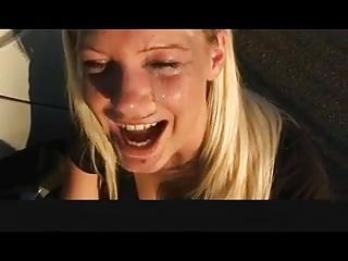 German girl gets a nasty facial