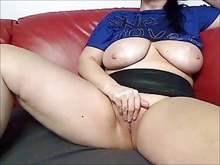 Hot German Milf Claudia masturbates on webcam  for her fans