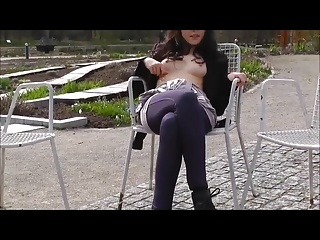 German teen outdoor blowjob 02
