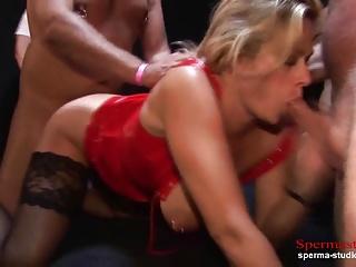 Multiple Cumshots Orgy – Marina Part 2 ——————