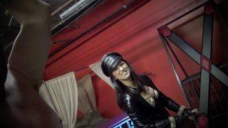 Femdom mistress Bella Blackheart a seductive bullwhipping